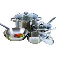 7 Piece 18/10 Stainless Steel Cookware with Encapsulated Base