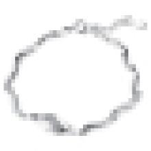 Pulsera trenzada de plata de ley 925 para mujer Regalo de moda del día de San Valentín