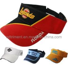 Bordado em comum escovado algodão sarja esporte visor de golfe (TRV009)