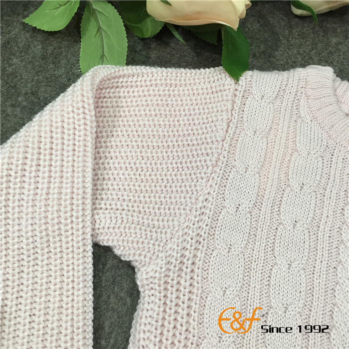 Teens Sweater with Cable Sleeves
