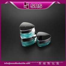 J080 brosse à cosmétiques de luxe, pot de crème acrylique haute qualité