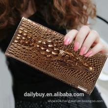 china wallet maker luxury leather women fold the wallet