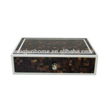CPS-AB Zigzag Pen Shell Boîte à bijoux pour l'utilisation de l'hôtel