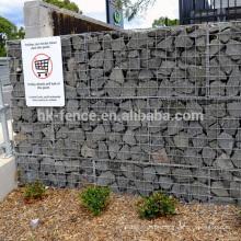 Preço de fábrica galvanizado gabião cesta / caixa para venda usado para hesco barreira 2-6mm fio 0.5-2 m tamanho gabião parede cesta / gaiola / caixa