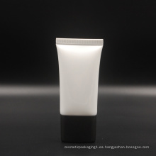 tubo super ovalado en blanco blanco con tapón de rosca para crema de protección solar bb cc
