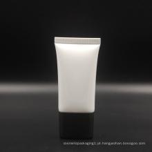 tubo oval super branco em branco com tampa de rosca para creme de proteção solar bb cc