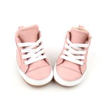 핑크 높은 상위 가죽 아기 드레스 신발