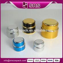 Venda Por Atacado forma redonda prata 7g 15g 20g 30g 50g 100g 200g Skincare embalagens cosméticos Jar e alumínio recipiente para creme