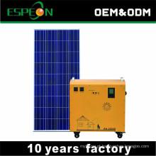 Fora do sistema de kits de painel solar de grade 100 W 200 W 300 W 500 W uso portátil para geladeira TV LED carga de telefone celular de luz