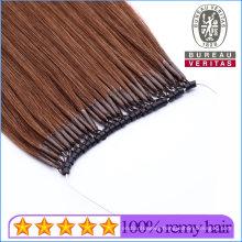 Saon Use Dark Brown 100% Brazilian Human Virgin Hair Micro Ring Hair Extension Remy Hair