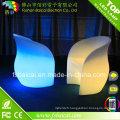 Table et chaise en verre illuminée par LED en plastique pour la barre