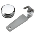 Silvery Chrome Plated ZDC Cabinet Door Handle Lock