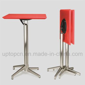 Высокий складной бар стол с ABS пластик столешница и алюминиевое основание таблицы (СП-FT389)