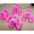 Розовый Двухместный вешалка клипы для стекались вешалки