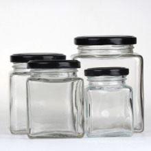 Food Packaging Glass Honey Jars with Metal, More Size for Choice
