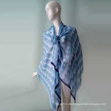 Strandkleid für das Mädchen Blaue Polyster Chiffon