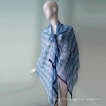 Robe de plage pour la fille Blue Polyster Chiffon