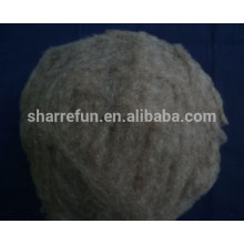 dehaired and carded chinese sheep wool 21.5mic/32-34mm