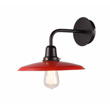 Good Quality E27 Red Shade Steel Wall Lamps (MB6179-R)