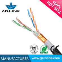Fabriqué en Chine câble de réseau solide sans cuivre ftp cat5e câble torsadé