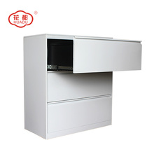 Steel KD three sliding drawer lateral office file cabinet