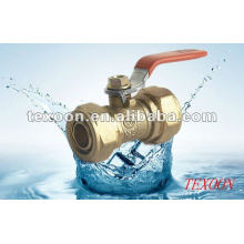 200 WOG Regular Port Brass Connection Ball Valve, Aluminum Composite Pipeline