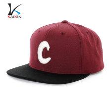 Kaixin Cap en gros Snapback Hat plat bord 6 panneau 3D broderie Logo chapeau et chapeau homme chapeau