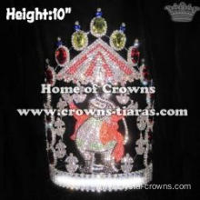10in Height Crystal Custom Circus Pageant Crowns