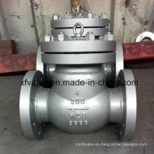 150lb / 300lb / 600lb / 1500lb Válvula de retención de extremo de brida Wcb de acero fundido