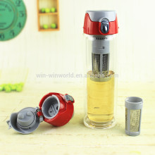 2018 New Arrival Double Wall Insulated Glass Tea Tumbler With Loose Leaf Tea Infuser