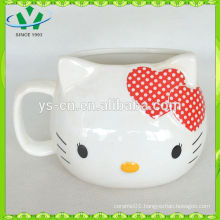 2014 Wholesale Red Hello Kitty Creative Ceramic cup