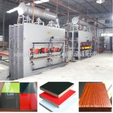 MDF laminación de melamina máquina de prensa caliente / wuxi qiangtong caliente venta melamina ciclo corto máquina de prensa caliente