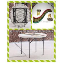 3ft Preiswerte moderne heiße Verkaufs-Verkleidungs-Oberseite gedruckte HDPE Blasform-faltende runde Bier-Stab-Tabelle