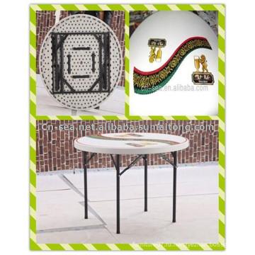 3ft. Дешевые Современные Горячие Продажа панели Топ печатной HDPE Ударная форма Складной круглый стол бар пива