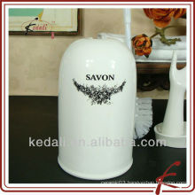 toilet brush holder ceramic with decal