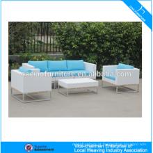 Conjunto de sofá ao ar livre módulo de móveis de vime jardim ao ar livre