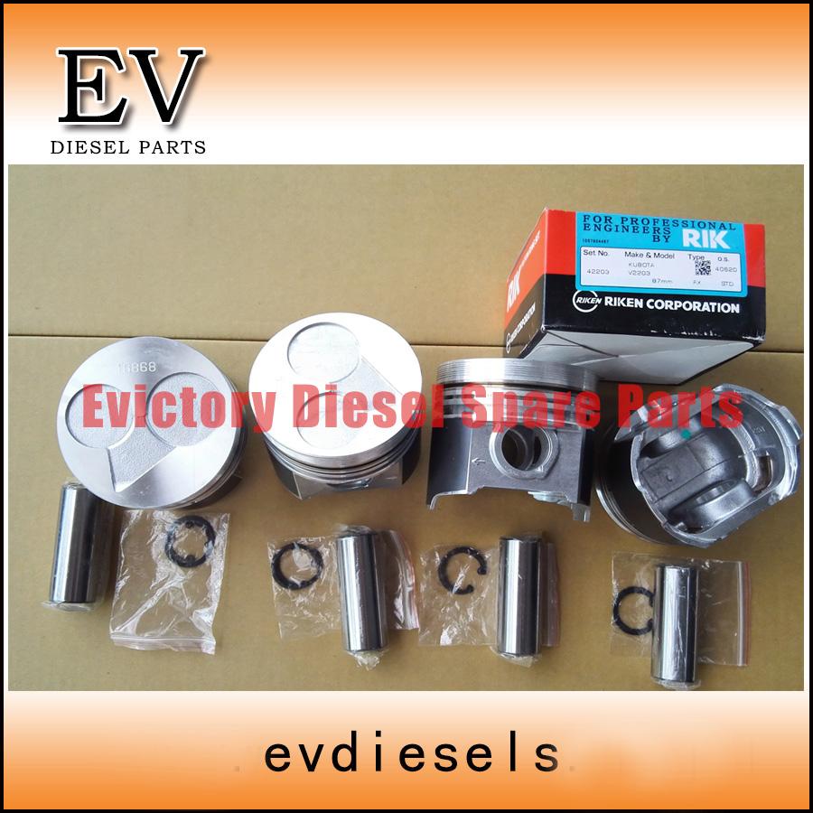 V2203 piston and piston ring