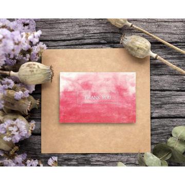 Бумага дешевой цены изготовленная на заказ напечатала различные конструкции карточки спасибо Письма поздравительная открытка