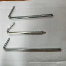 electric Galvanized Steel tent peg / 7 shape popular steel tent peg