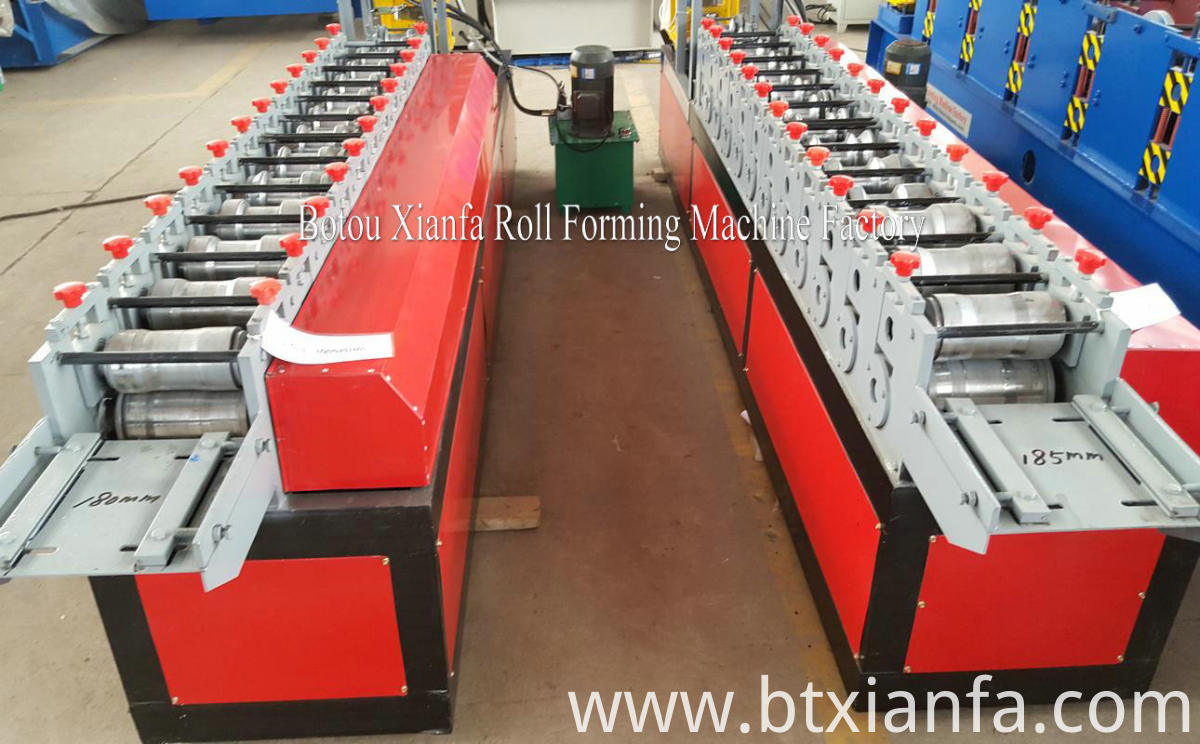 rolling shutter forming machine