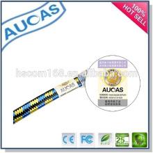 Snagless UTP FTP de red ethernet cable de remiendo plano / oro rj45 blindado cable de comunicación / interior de interior systimax cat6