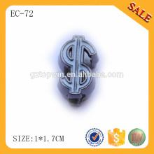 EC72 Metal cord lock for bag to adjuster / adjustable colored metal strap stopper
