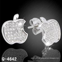 Novo design de moda jóias de prata parafuso prisioneiro da orelha de prata 925 (q-4642)