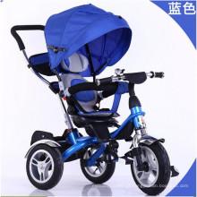 Top qualidade 4 em 1 Trike carrinho de bebê Triciclo Pram
