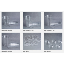 Tazas para mascotas y tapas de cúpula Copa de plástico