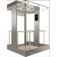 Vvvf Control Panoramic Elevator with Machine Room