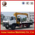 Caminhão guincho de reboque Dongfeng com guindaste de 8 toneladas