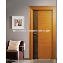 Turkish Manufacture Affordable Price Flashy Molded Wide Jambed Teak Veneer Door