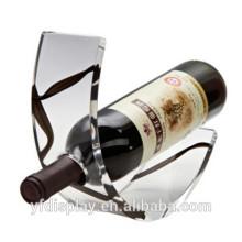 Support acrylique clair d'affichage de vin, supports acryliques d'affichage de vin de polissage