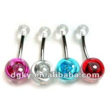 Fashion jewelry rose navel ring navel belly ring